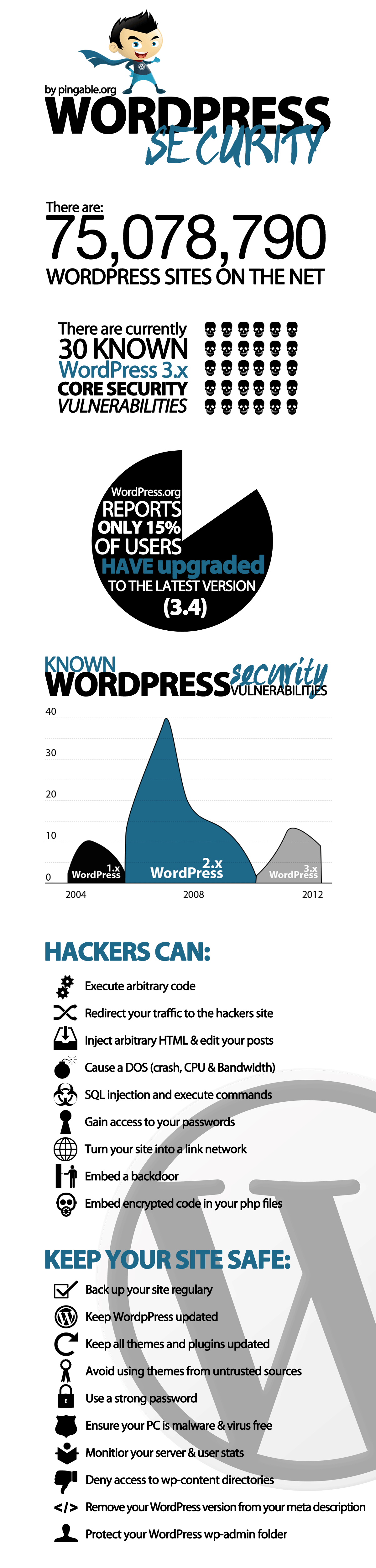 WordPress Security Infographic by Pingable