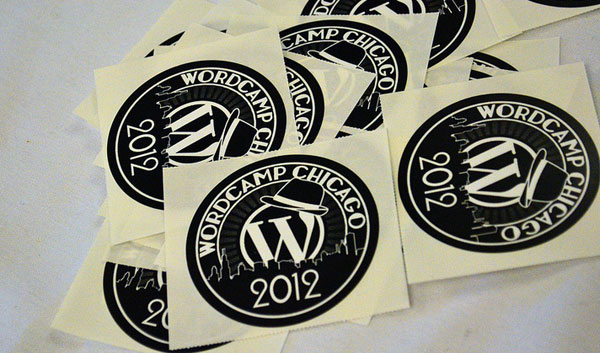 WordCamp Chicago stickers