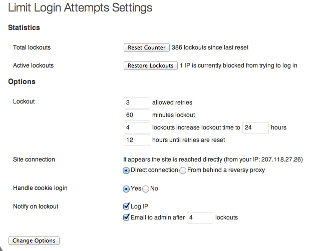 limit login attempts plugin settings