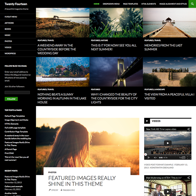 Twenty Fourteen WordPress Default Theme