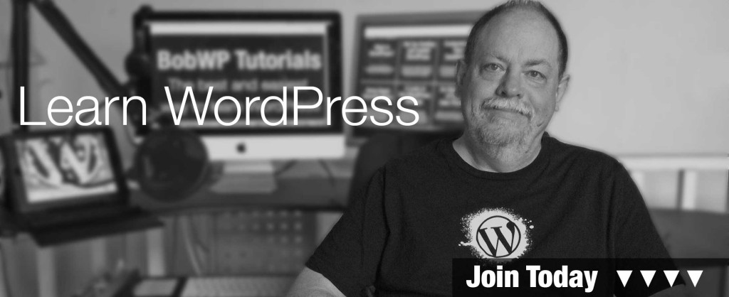 Learn WordPress Today with BobWP Trainer