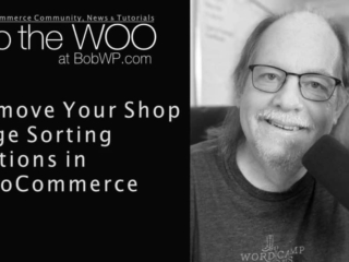 How to Remove the Sorting Options on the WooCommerce Shop Page