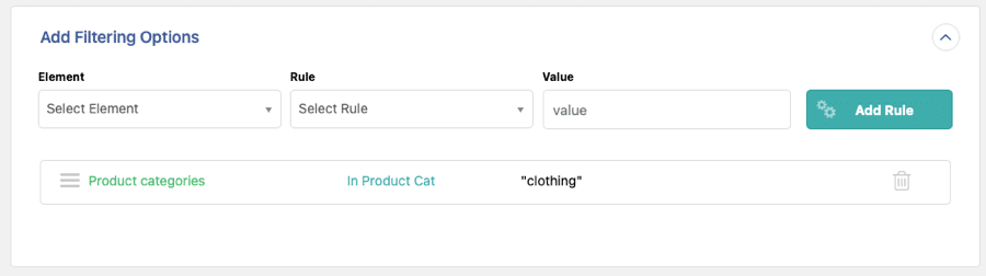 clothing category export